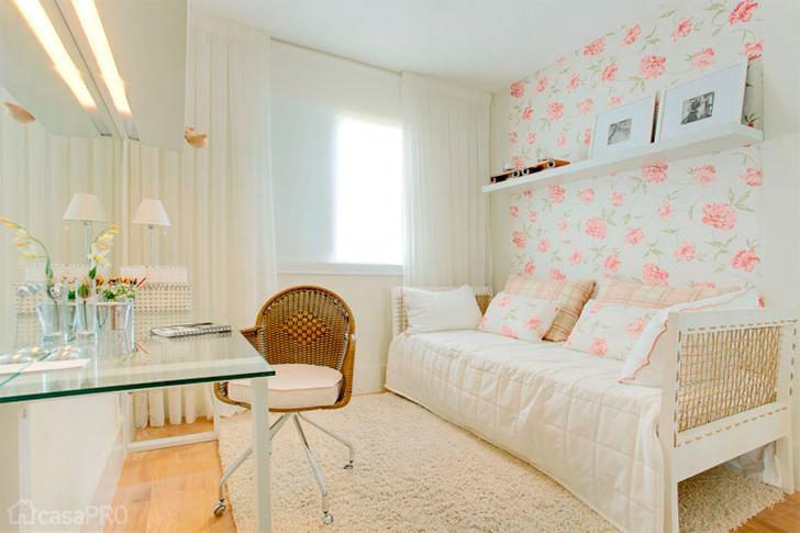 Decoração para quarto com home office integrado 5
