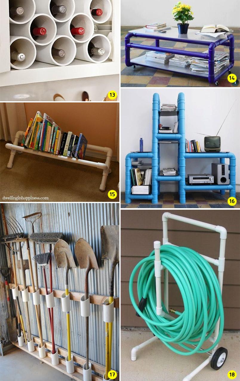 Diy 24 ideias para decorar e organizar a casa usando for Casa para herramientas de pvc
