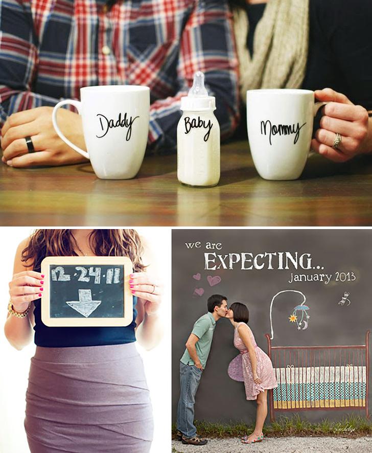 Contando sobre a gravidez de um jeito criativo