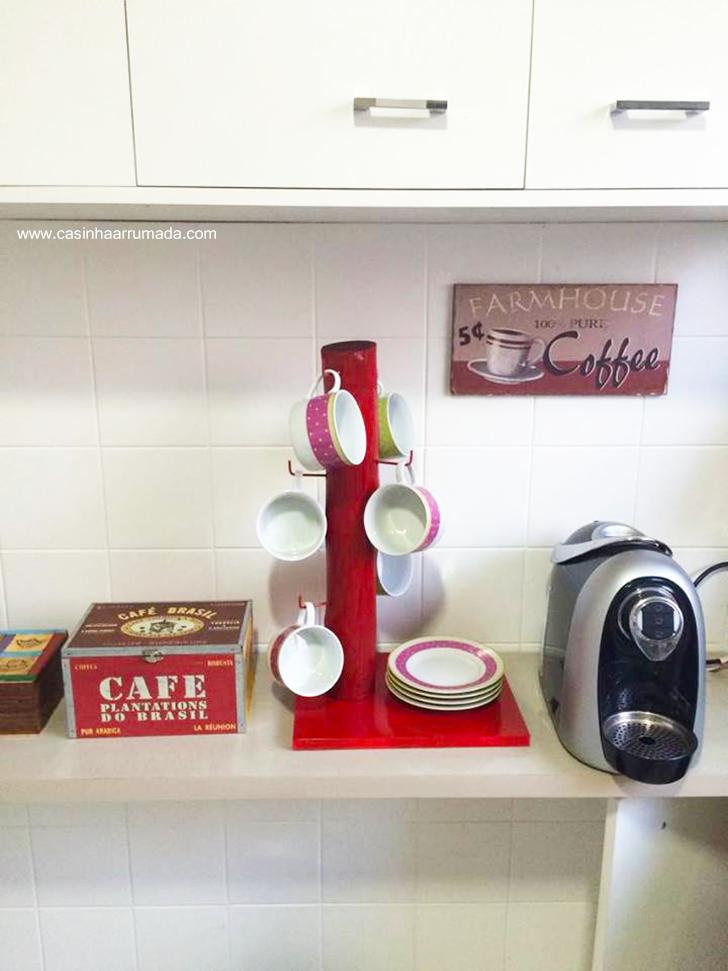DIY porta-xícaras barato e fácil de fazer 5