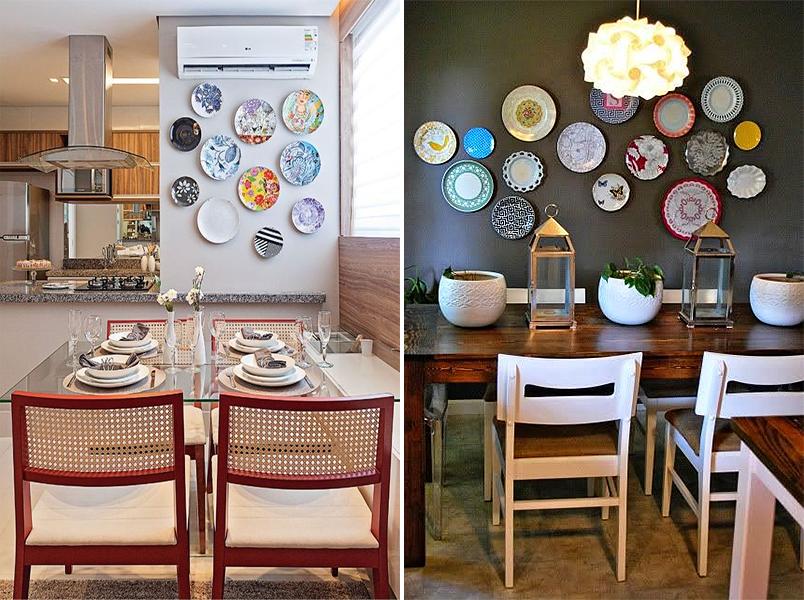 Decoração com pratos na parede 2