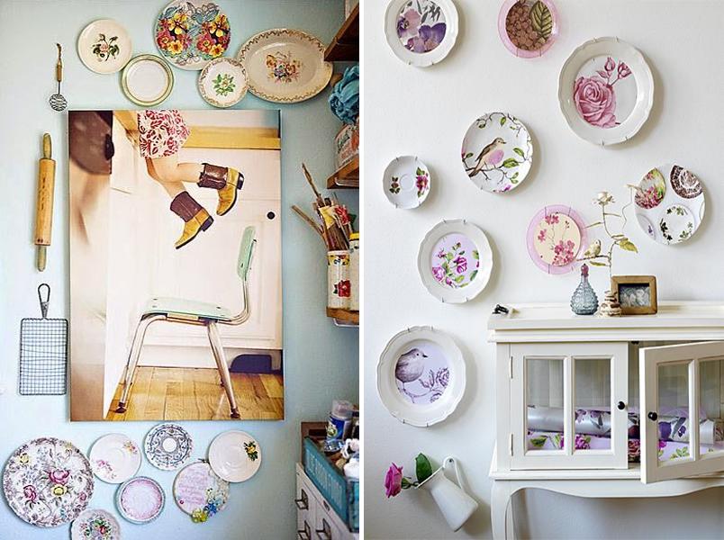 Decoração com pratos na parede 4