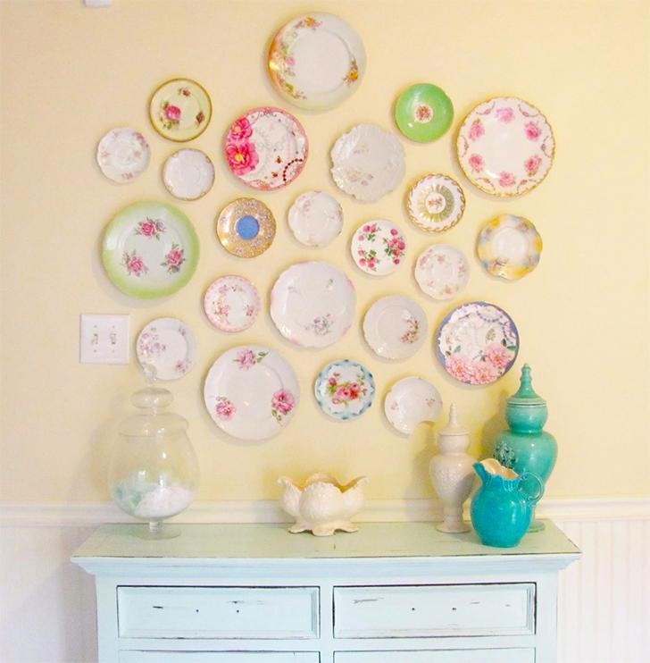 Decoração com pratos na parede 6