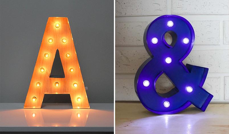 Letras luminosas na decoração 8
