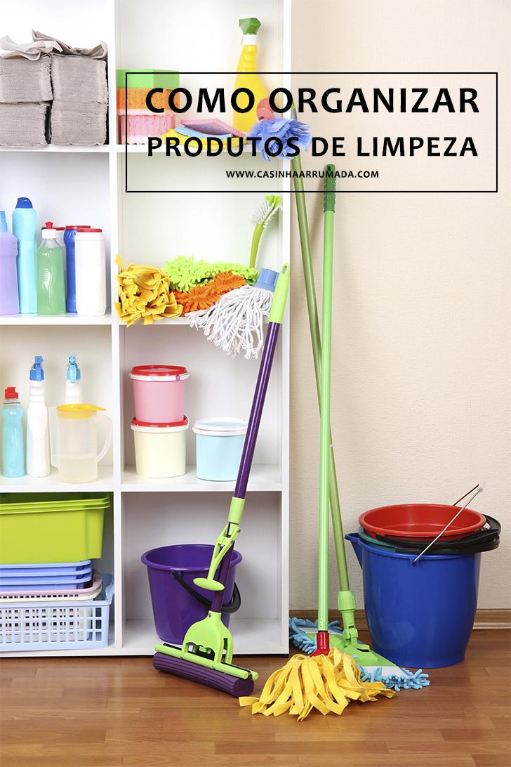 Como organizar produtos de limpeza 1