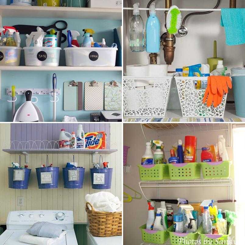 Como organizar produtos de limpeza 3