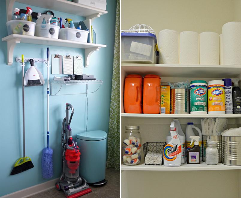 Como organizar produtos de limpeza 4