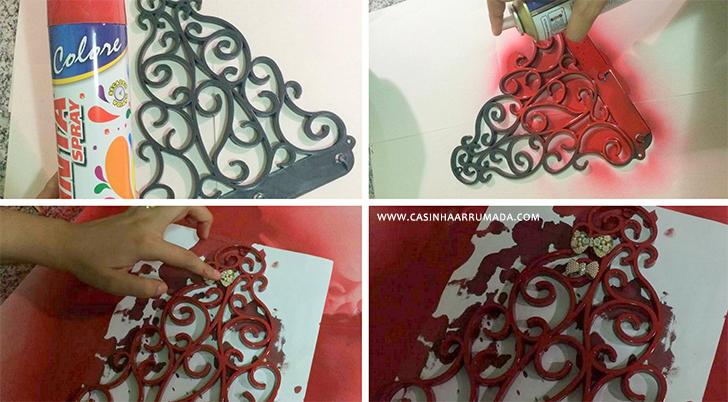 Transformando achados de R$1.99 em decoração #2 Porta-colar