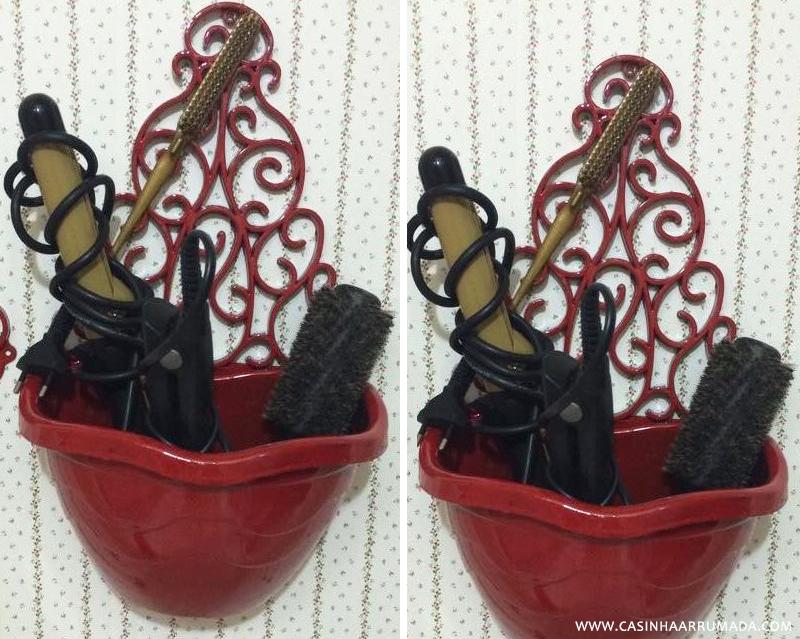 Transformando achados de R$1.99 em decoração #6 Organizador chapinha