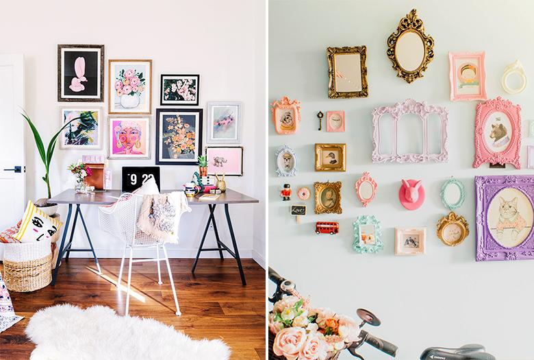 5 ideias para decorar paredes brancas casinha arrumada for Fotos para decorar paredes