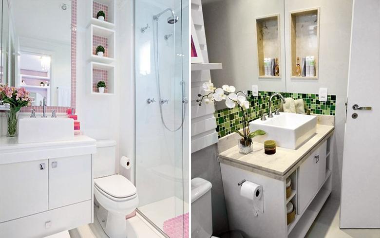 Dicas para decorar o banheiro gastando pouco  Casinha Arrumada -> Reforma De Banheiro Pequeno Gastando Pouco