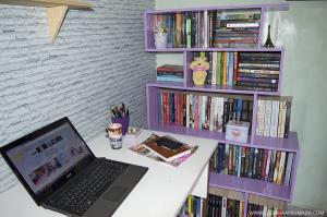 DIY Como fazer estante de livros gastando pouco com MDF 2