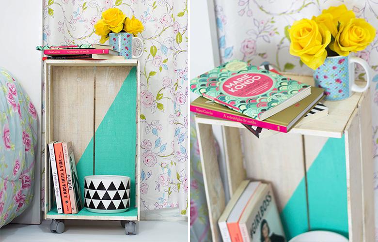 DIY com caixote de feira 1 Criado-mudo de caixote de feira