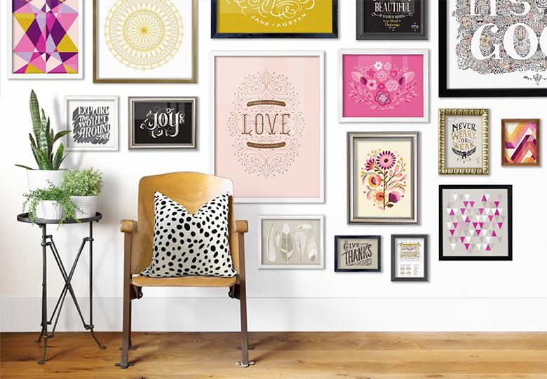 Dicas e inspirações para montar uma parede de quadrinhos linda | Gallery Wall