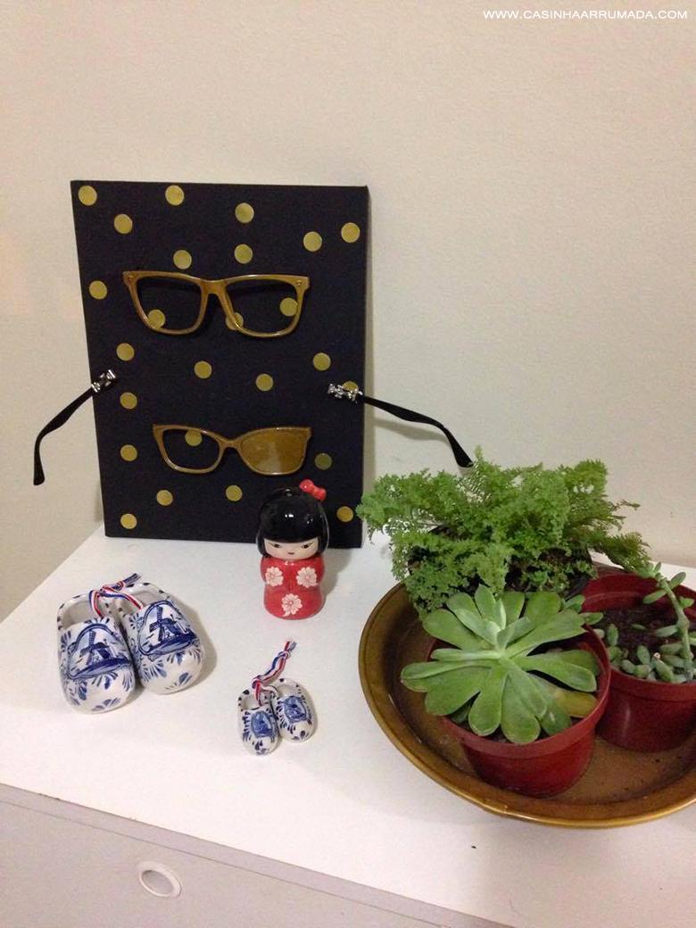 DIY Quadrinho personalizado com armações de óculos antigos 1