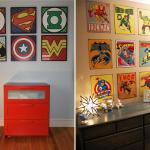 Parede de quadrinhos para quarto de menino 3
