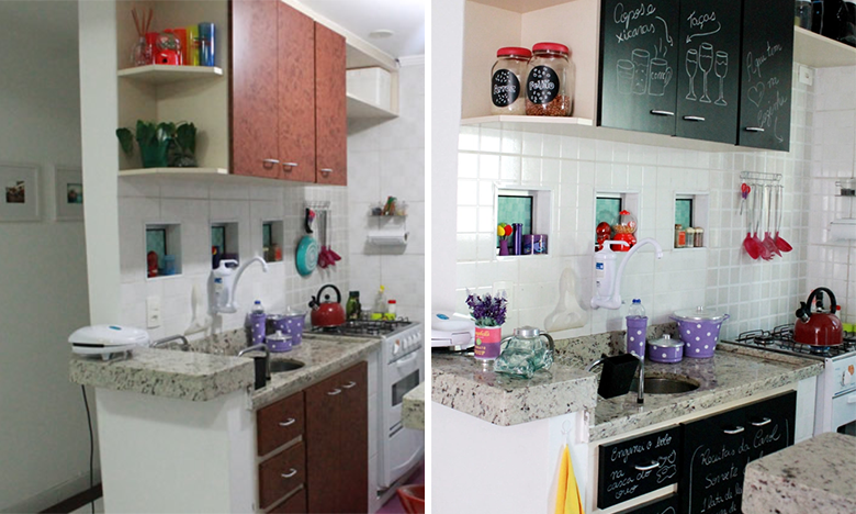 4 maneiras de renovar os arm rios da cozinha casinha for Aplicacion para disenar armarios