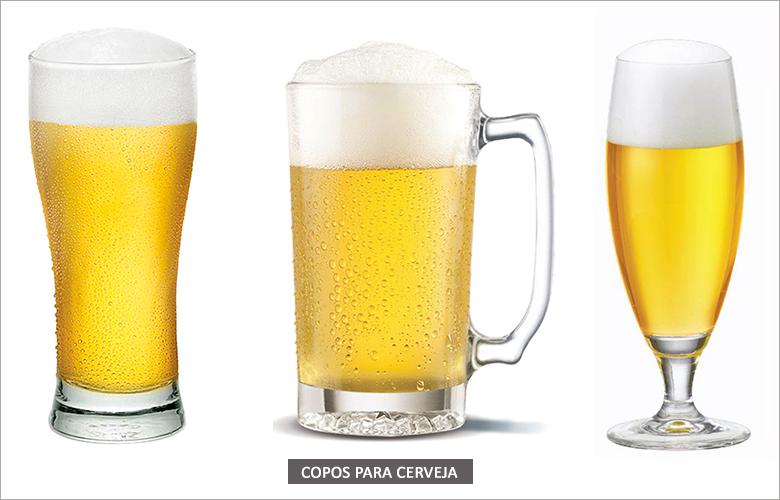 Tipos de taças e copos para cerveja e chope
