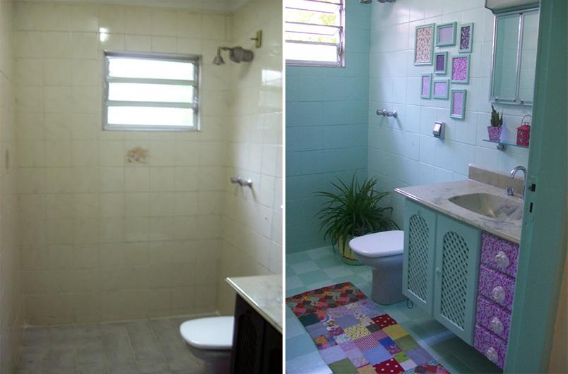 Tinta para pintar armario de banheiro for Como pintar azulejos