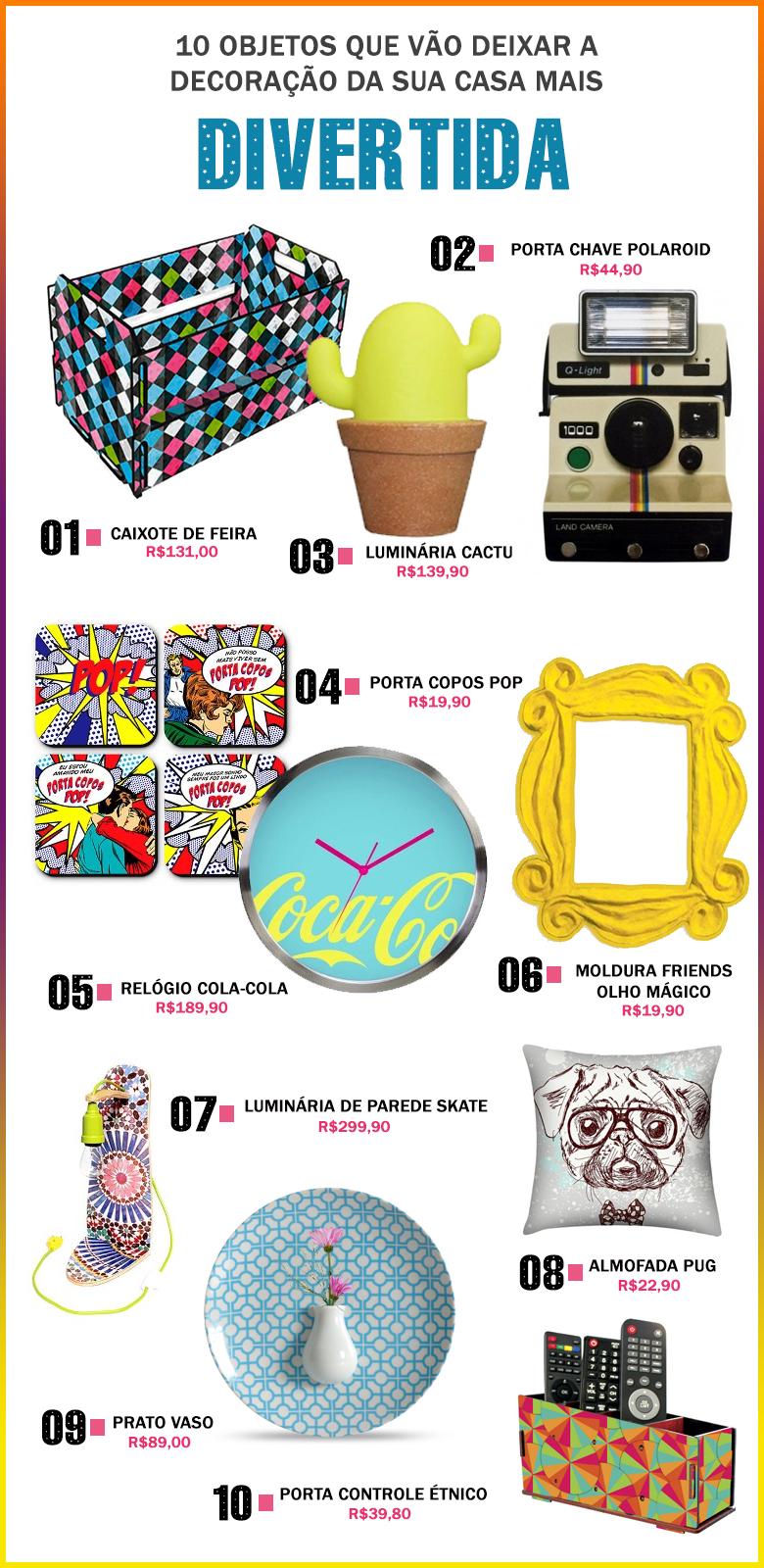10 objetos que vão deixar a decoração da sua casa mais divertida
