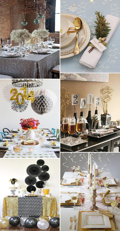 Ideias para decorar a mesa para o Ano Novo