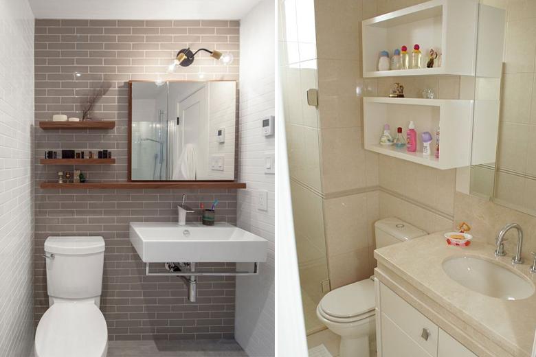 8 truques fantásticos para decorar e organizar banheiros pequenos  Casinha A -> Layout Banheiro Pequeno