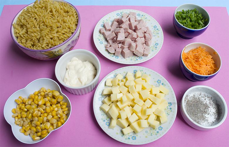 Receita de Salada de Macarrão Casinha Arrumada 1