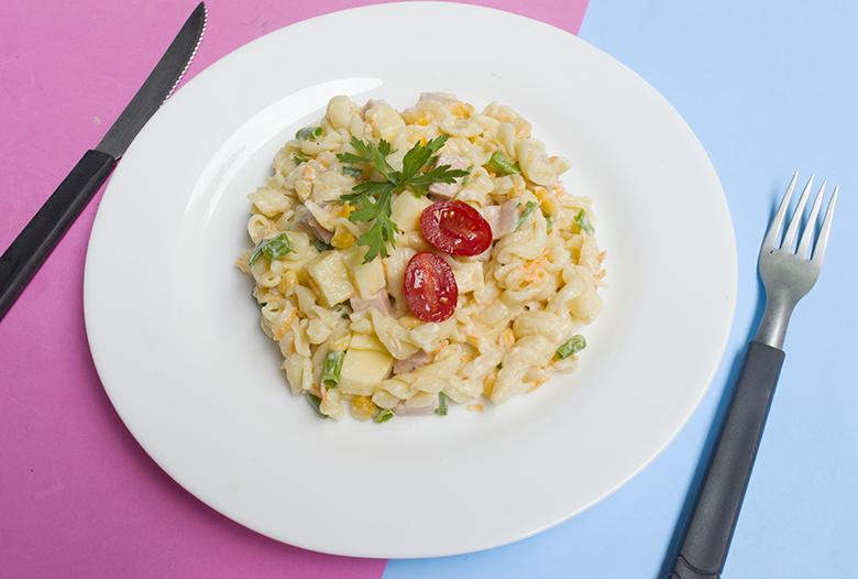 Receita de Salada de Macarrão Casinha Arrumada 4