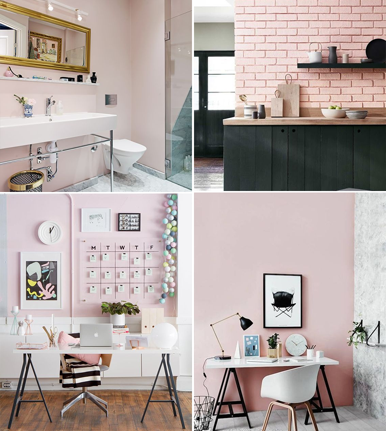 Decoração com paleta de cores rosa, cinza, branco e preto - Casinha Arrumada