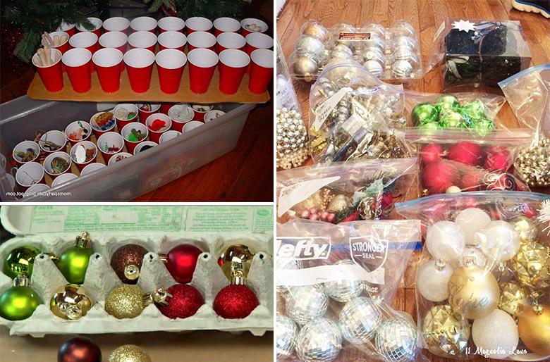 Como guardar os enfeites de Natal