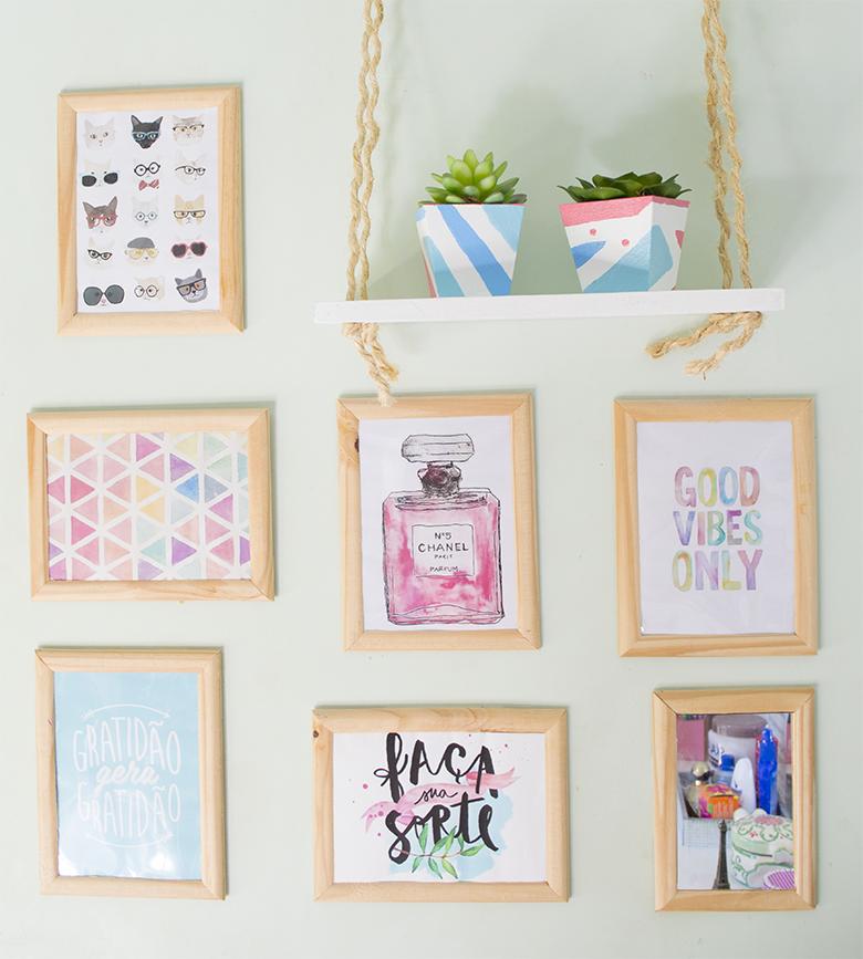 DIY  Ideias FÁCEIS e BARATAS de decoração para o quarto #04  Casinha Arrumada