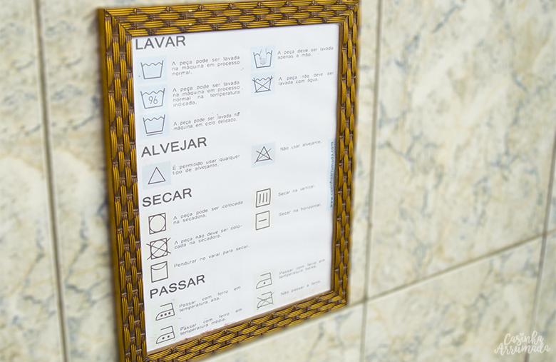 decoração e organização para a lavanderia