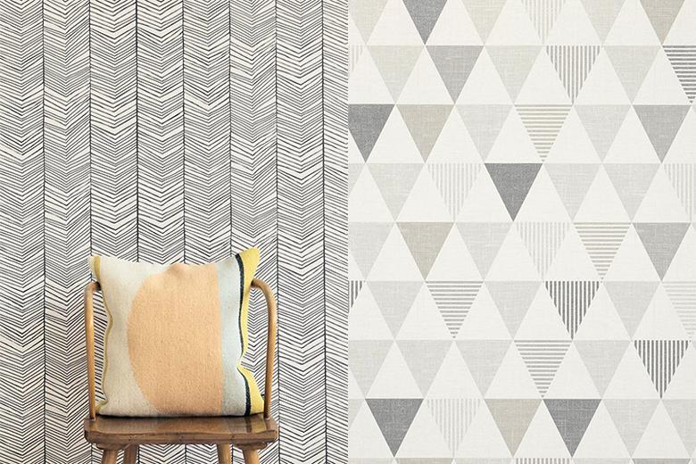 Como usar papel de parede geom trico na decora o - Papel pared entrada ...