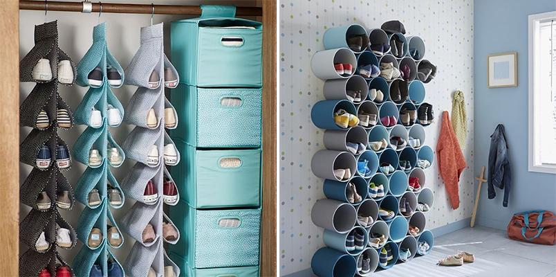10 ideias diferentes para guardar e organizar sapatos