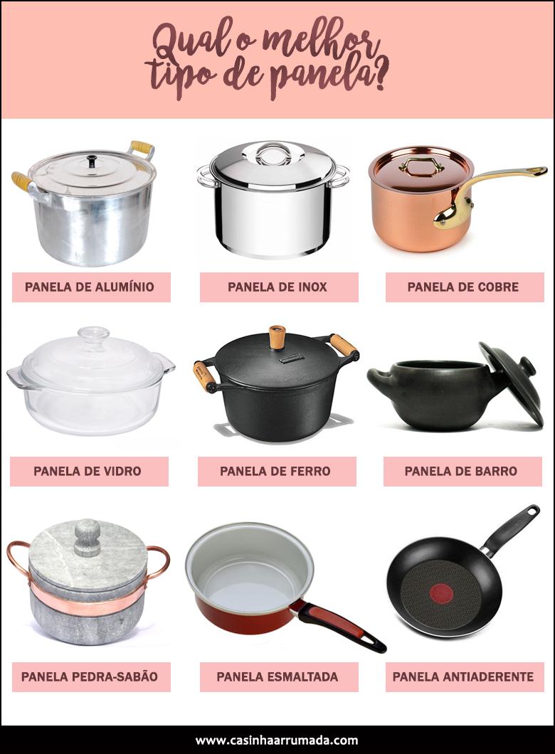 Qual o melhor tipo de panela para cozinhar?
