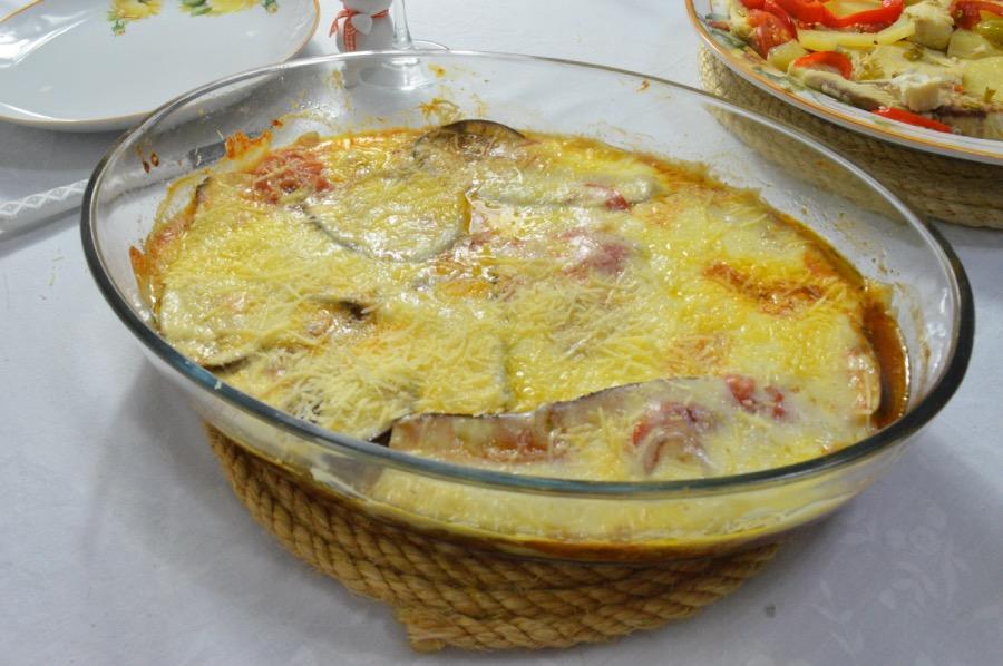 cardápio completo almoço de páscoa lasanha de berinjela
