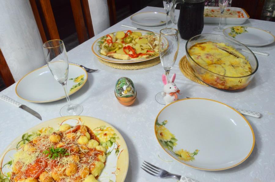 cardápio completo almoço de páscoa