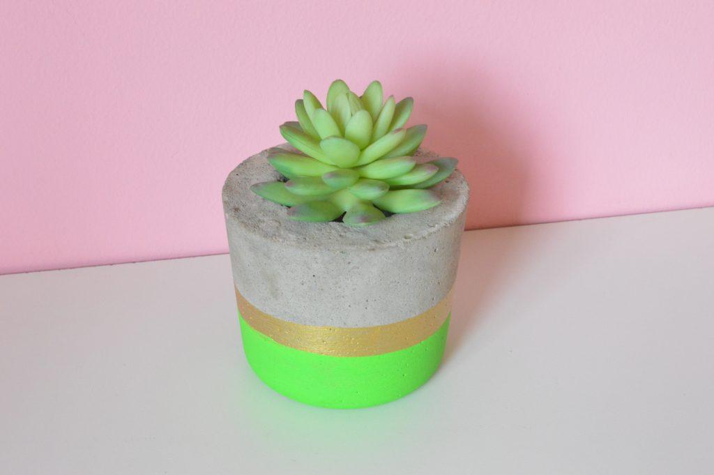 negócio de artesanato vasinho de cimento