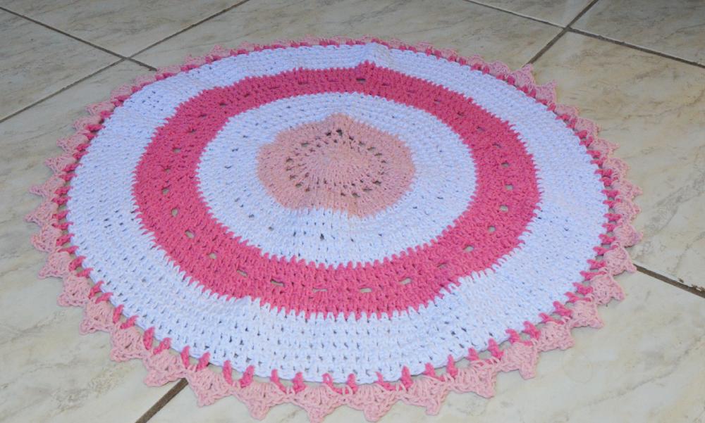 negócio de artesanato tapete de crochê